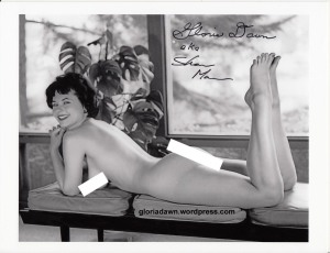 Gloria Dawn photographed by Michael LeRoy. A very small version of this photo appeared in Monsieur, 1964.