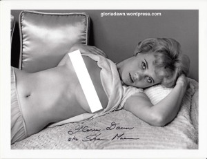 Gloria Dawn by Bill M., my agent, taken in Jan 1962 in my own bedroom.