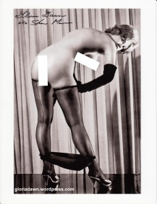 Elmer Batters' photo of me (as Donna Cole) published in Thigh High, 1967.