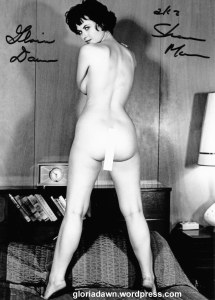 Gloria Dawn by Michael LeRoy. A copy made from a print he gave me in May 1963, just after my photo session with him.