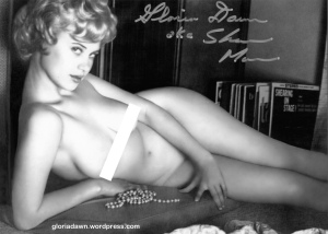 Gloria Dawn by Ron Vogel.  This photo was published as a fold-out in Amazon, 196?.  It also was published in Flirt, 1965 with the background whitened out.