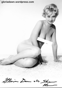 Gloria Dawn by Peter Gowland.  This photo was taken in December 1961.  Different versions of it were published in Peter Gowland Photographs the Figure, 1962 and in Figure Quarterly, 1965.