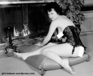 LeRoy took a number of photos of me in front of a fireplace that were never published.  He supplied the costume.